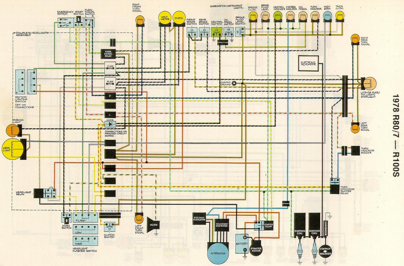 bmw r100 wiring diagram