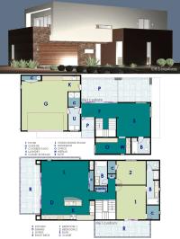 Ultra Modern Live-Work House Plan | 61custom ...