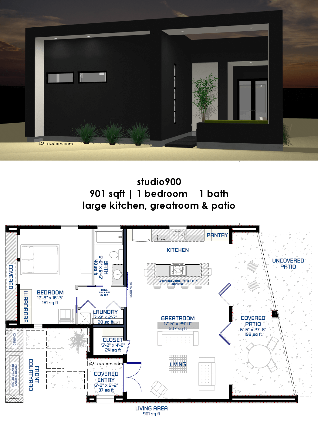 Modernist House Plans Studio900 Small Modern House Plan With Courtyard 61custom
