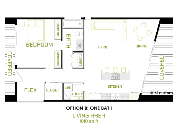 The minimalist small modern house plan 61custom