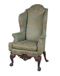 Antique Queen Anne Wingback Chair | Antique Furniture