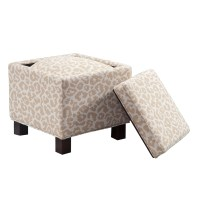 Madison Park Shelley Square Storage Ottoman with Pillows ...