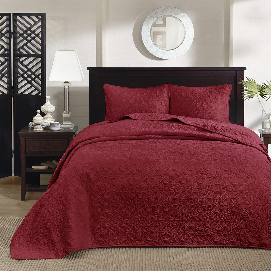 King Size Coverlet Australia Madison Park Quebec 3 Piece Bedspread Set Ebay