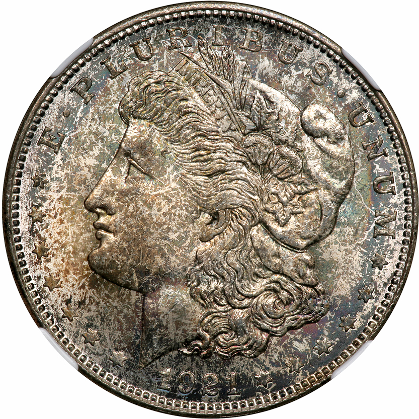 1921 D $1 MS Morgan Dollars NGC