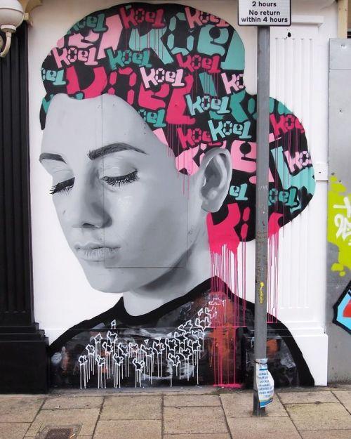 streetartglobal:  By @koeone_ in Southsea, UK (http://globalstreetart.com/koe1) #globalstreetart https://www.instagram.com/p/BF4edA9gECq/