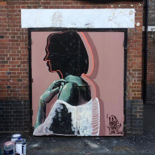 streetartglobal:  New by @sokaruno in London supported by us #globalstreetart https://www.instagram.com/p/BIDai7_j3Uj/