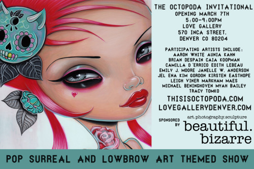 benjaminbenjamin:  Caia Koopman! Part of the Octopoda Invitational at Love Gallery In Denver. Click any of this text to be connected to the Facebook event page!!!!