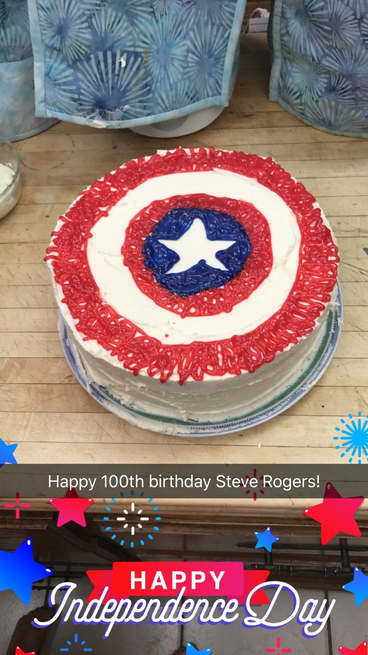 Captain America Kuchen Steve S 100th Tumblr
