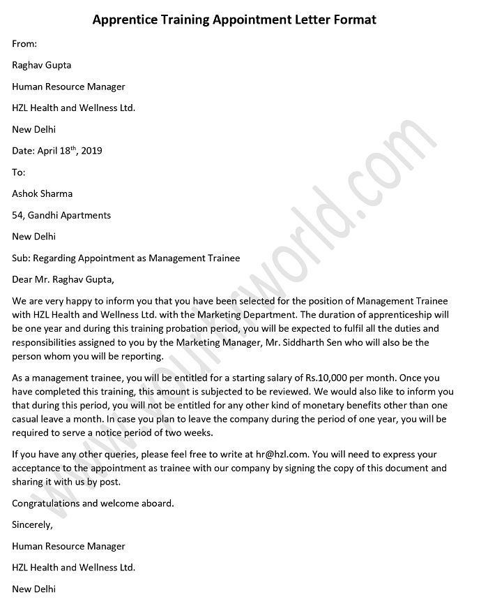 Human Resource Management Forum - Letter Format