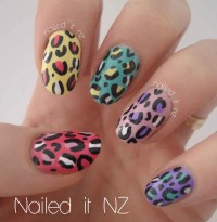 cheetah print nails on Tumblr