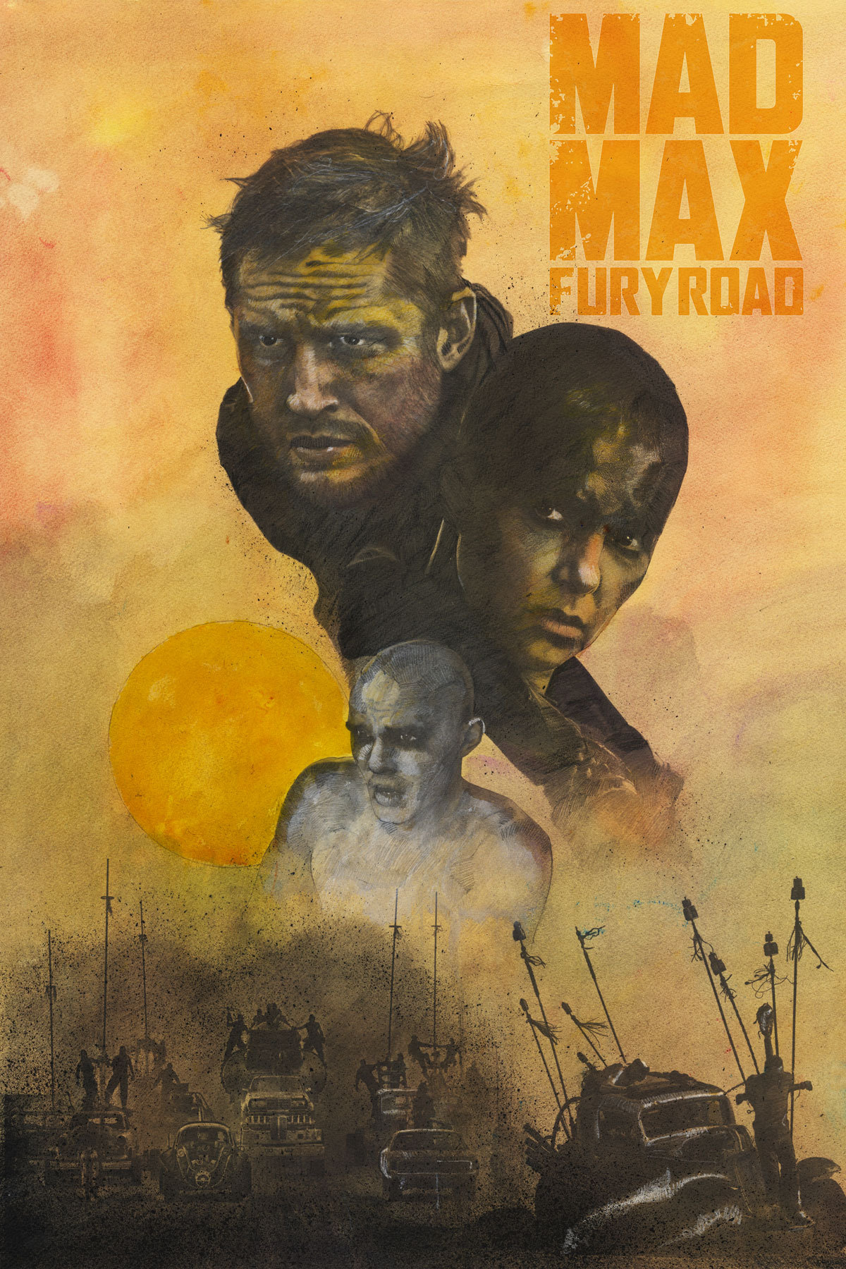 Polster Max My Mad Max Fury Road Poster Paying Homage To Ron Domingue