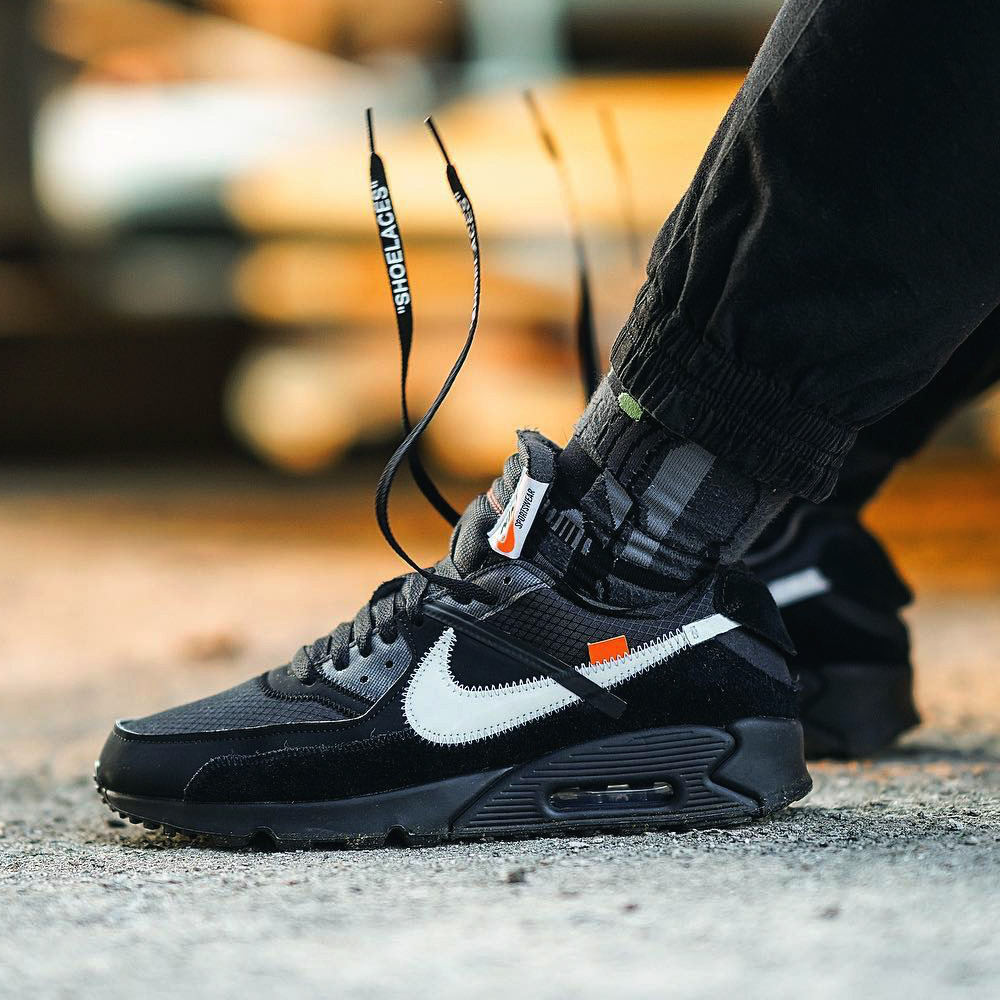 Air Max X Off White Black Details About Nike X Off White Air Max 90 Black Aa7293 001 Us8 5 Uk7 5 Eu42
