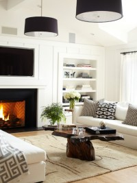 Ranch style living room is given a modern update ...