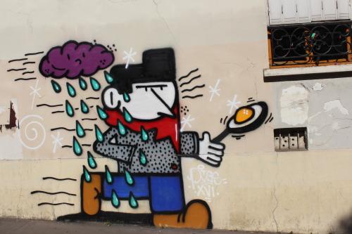 bfstreetwalls:  Mural by Poe via Lézarts de la Bièvre in Paris 13th district. Fresque dePoe via Lézarts de la Bièvre dans le 13ème arrondissement de Paris.