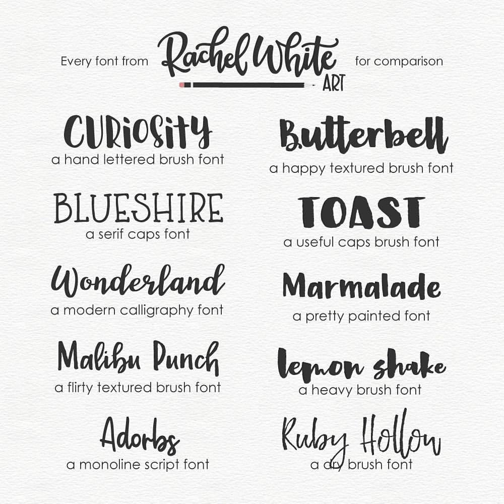 Calligraphy Fonts List Rachel White Art Sometimes It S Fun To See All The Fonts