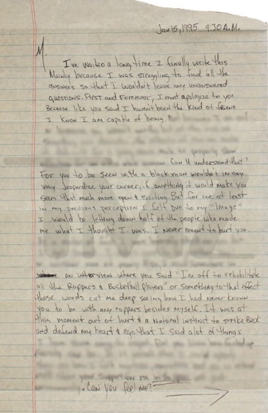 tupac letter Tumblr