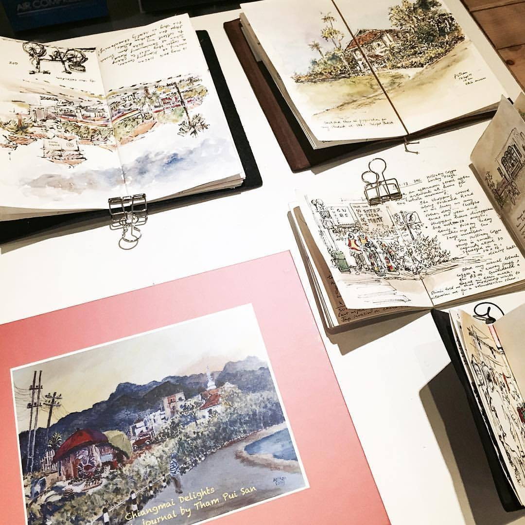 Traveler's Notebook display at Overjoyed Singapore 👆🏻💛