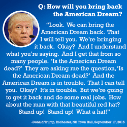mysharona1987:Donald Trump is every student ever who didn't read the book and is trying to wing it when the teacher asks what they think it was about.