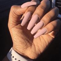 matte black coffin nails | Tumblr