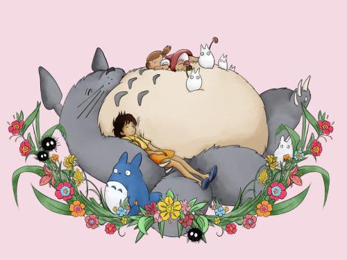 Cute Totoro Wallpaper My Neighbor Totoro Fan Art Tumblr