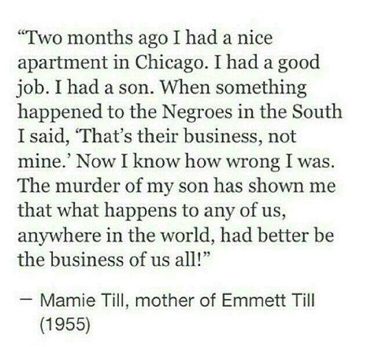 Mamie Till, Mother of Emmett Till 1955 Emmett Till (July 25 - travel survey template