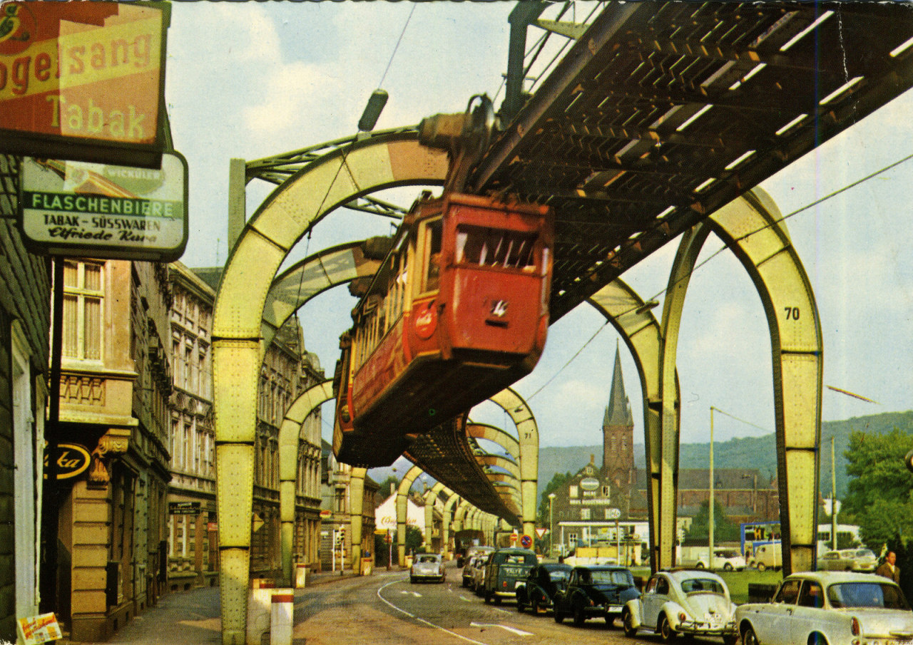 Tomato Wuppertal Fotoalbum Wuppertal Suspension Railway Germany 1970s