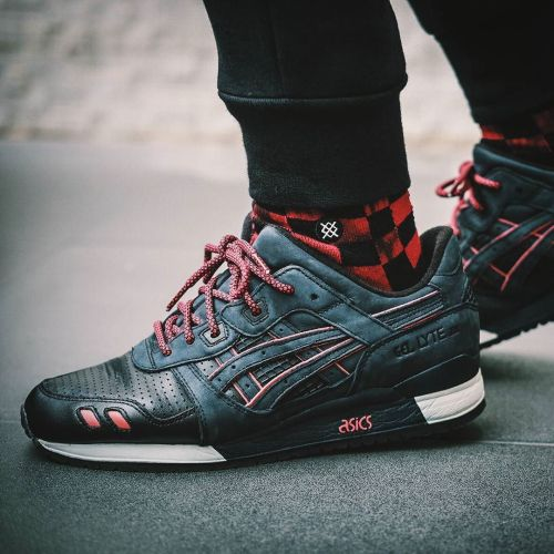 sweetsoles:  Ronnie Fieg x Asics Gel Lyte III 'Total Eclipse/Leather Toes' (by just.iz)