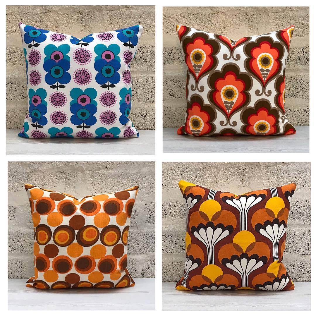 Retro Cushions Retro68 Some Groovy Vintage Fabric Cushions Added To The