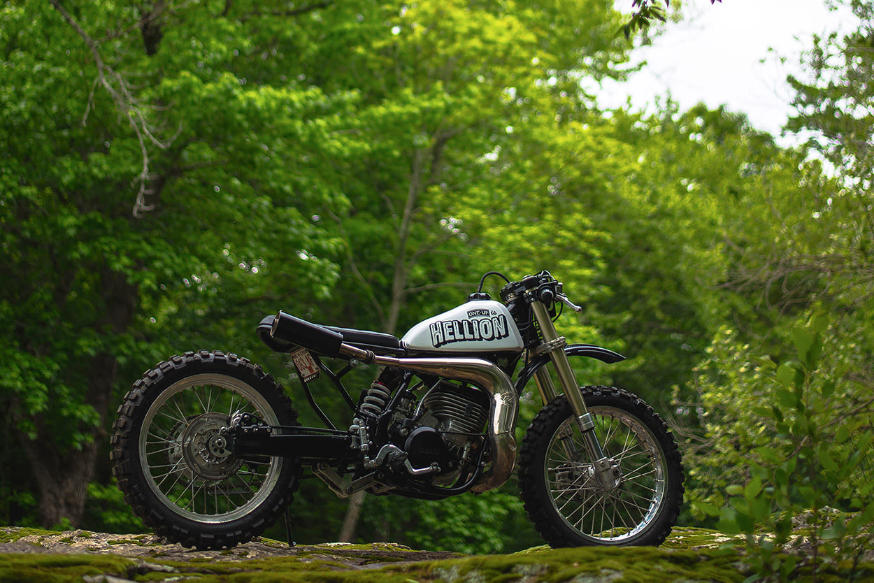 Garage Yamaha Crows Army Yamaha Wr500 Hellion By One Up Moto Garage