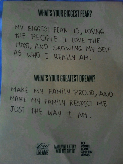 Fears vs Dreams - Fear Losing the people I love the most, and
