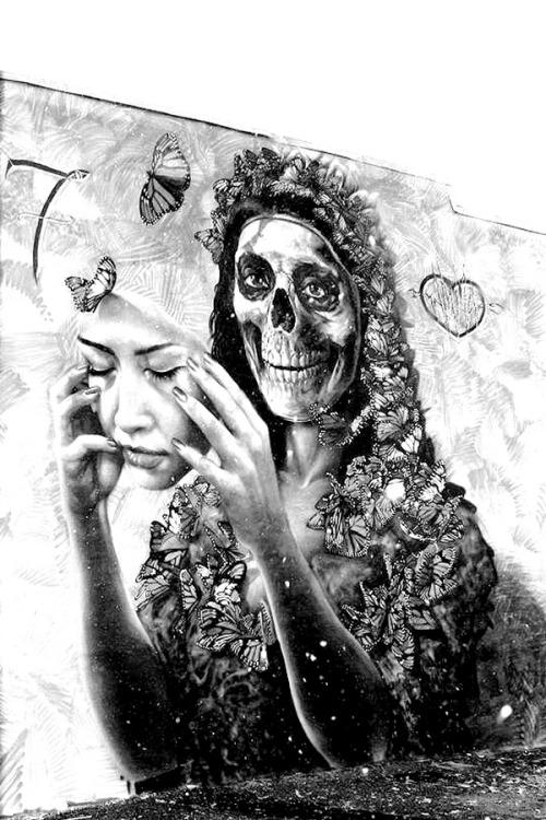 dopediamond:Dope…Dia De Los Muertos Mural by Gamma