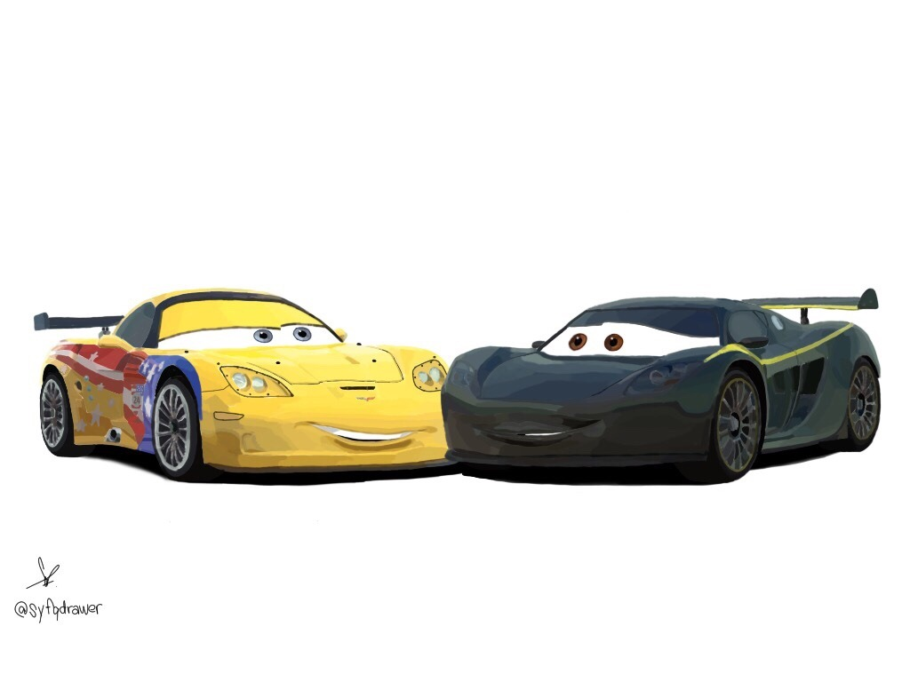 Cars Pixar Lewis Hamilton Jeff Gorvette Tumblr