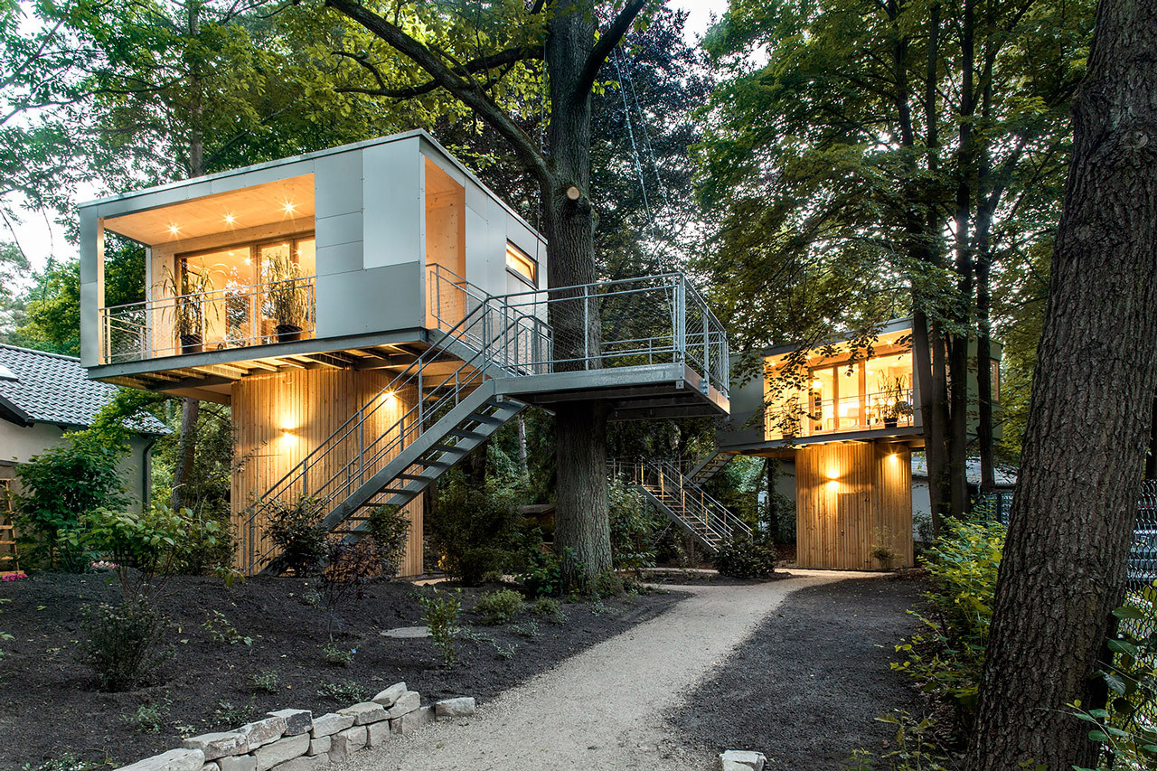 Urban Treehouse Berlin The Urban Treehouse Set In A 650 Sqm Garden At