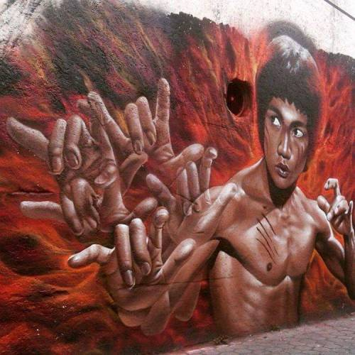 noisemx:  Koka - Bruce Lee wall.