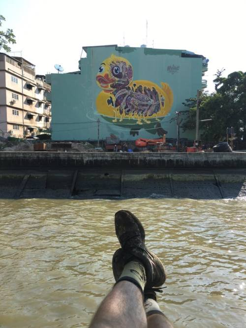 bizarrebeyondbelief:  Fresh mural work by Austrian #graffiti artist @nychos for the Bukruk Street Art Festival.More here: http://wp.me/p2dpFM-3u3