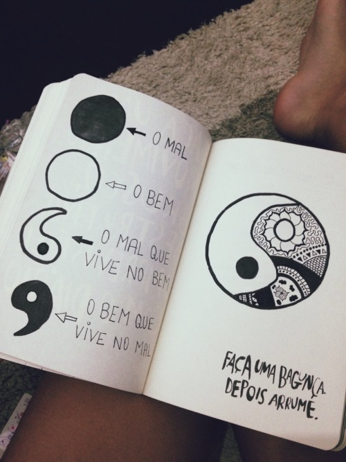 Cool Galaxy Wallpapers With Quotes Yin Yang Desenho Tumblr