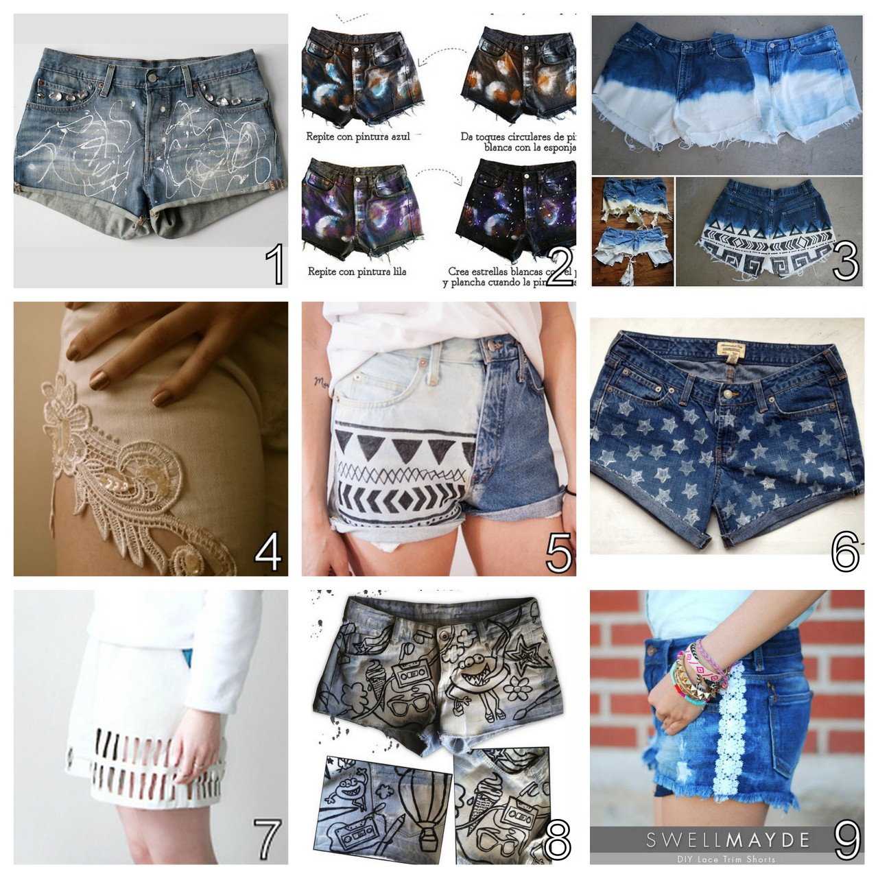 Diy Clothes For Summer True Blue Me And You Diys For Creatives Diy Summer Shorts