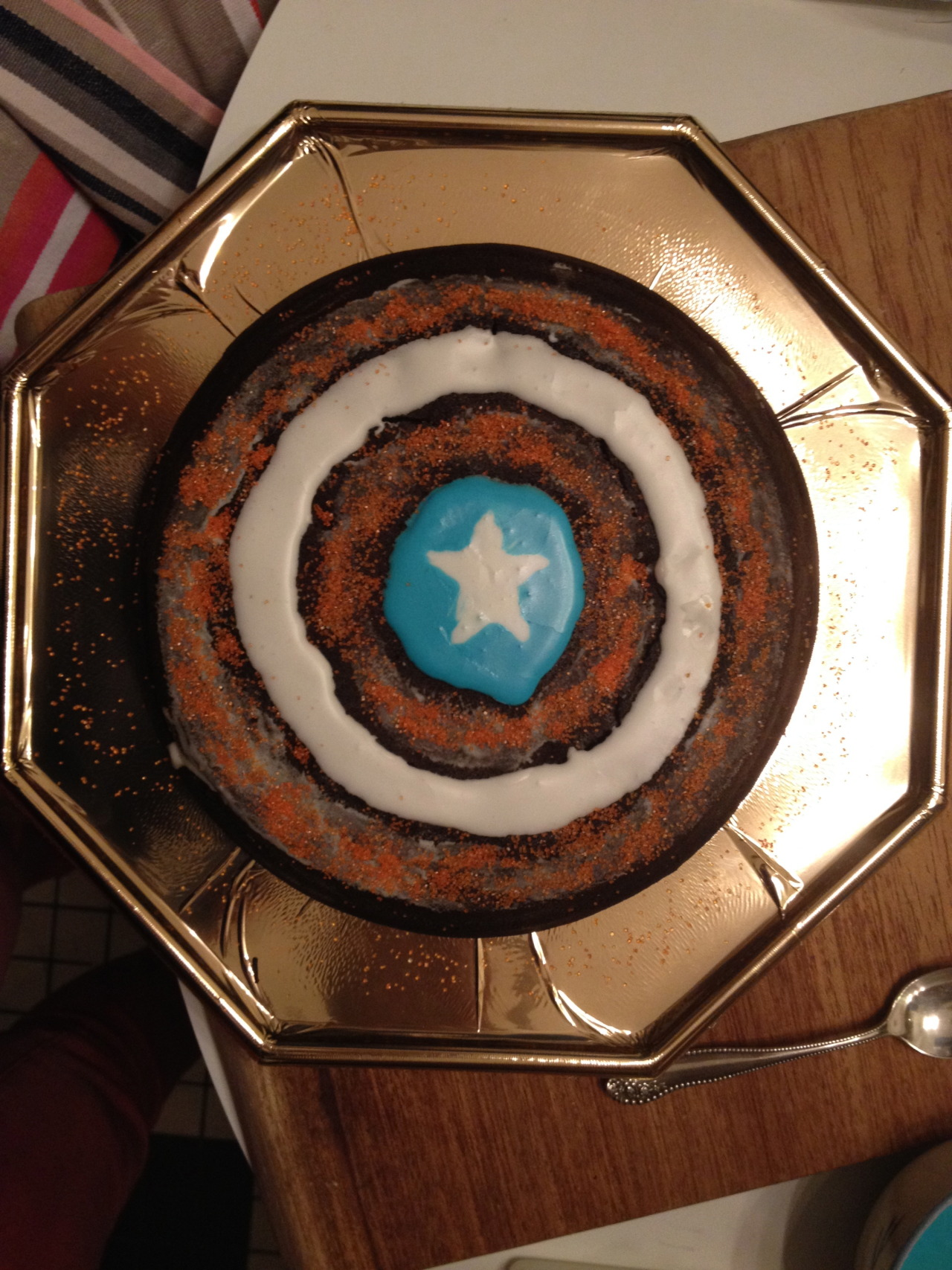 Captain America Kuchen And I M Japear Ugly Captain America Cake