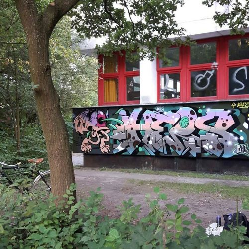 madstylers:  HEIS JBCB@heis_one _______________________#madstylers #graffiti #graff #style #colorful #character #stylewriting #summer #sprayart #graffitiart http://ift.tt/2cAnn1c