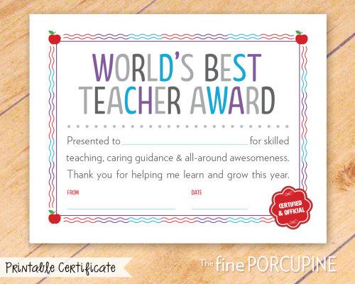 world s best teacher certificate lexu