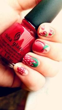 strawberry nail design | Tumblr