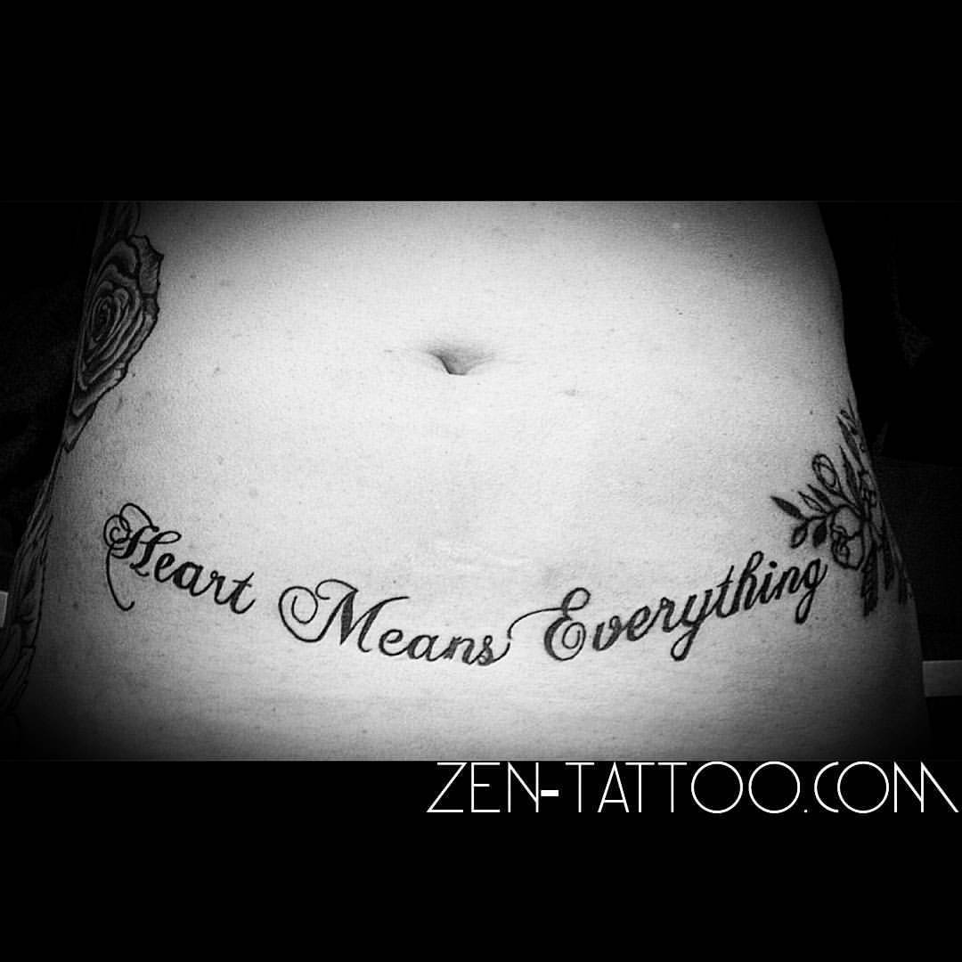 Zen Tattoo Coverup Script Heart Means Everything Tattoo