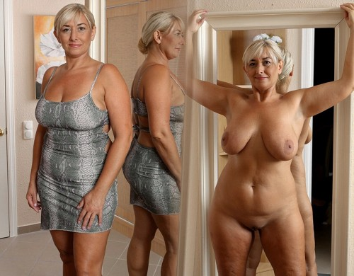 mature wife dressed undressed