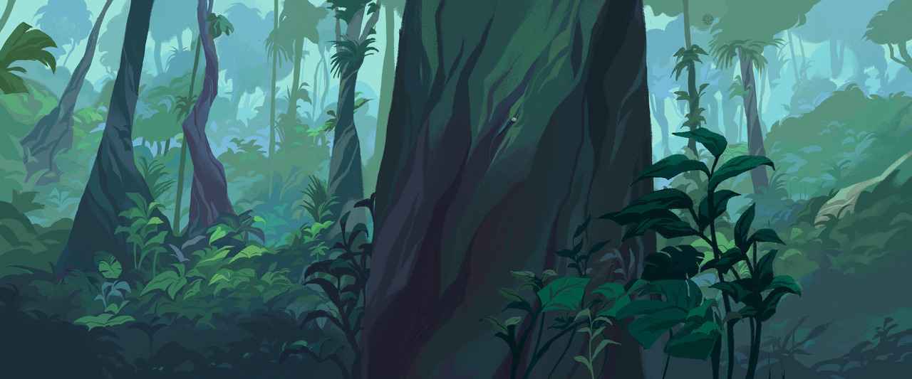 Sophie B \u2014 Hey! Backgrounds I did in Gobelins for the opening