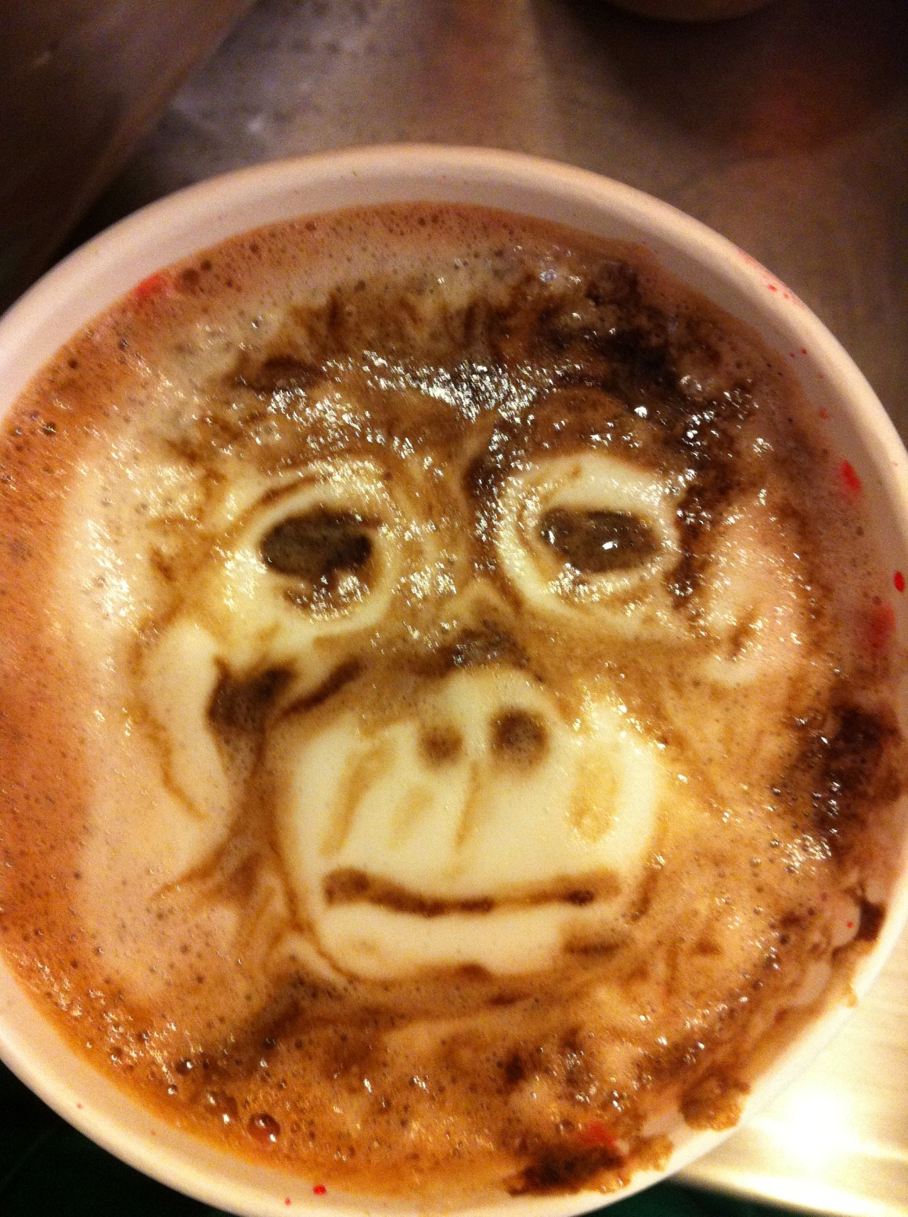 Coffee Art With Chocolate Syrup Anthropological Sketches And Zoological Felting A Little