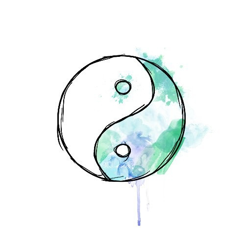 Hipster Iphone Wallpaper Quote Yin Yang Overlays Tumblr