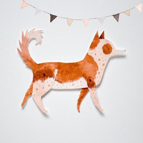figdays Articulated Paper Dolls   ohmycavalier 1 Dog 2