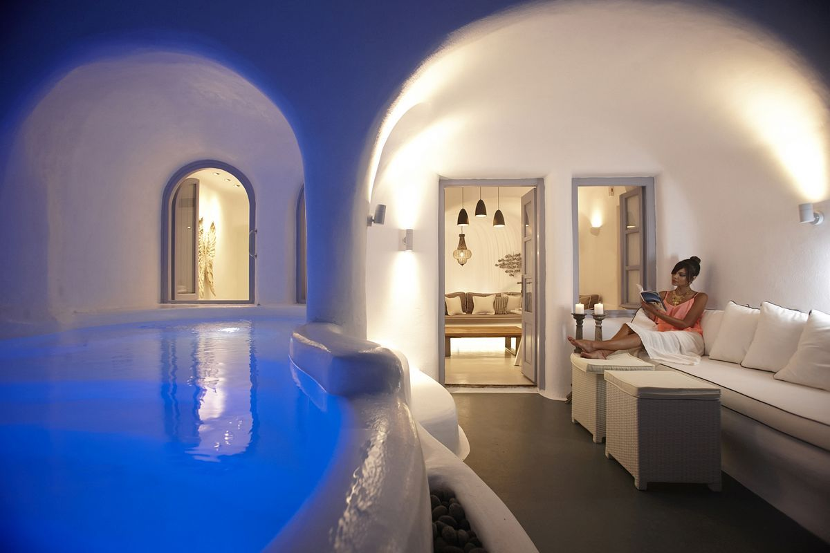 Chambre D Hote Santorin Dana Villas Santorini Greece Nestled On The Luxury
