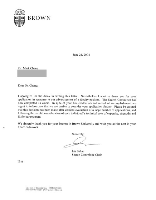 more of the same \u2014 26 Rejection Letters