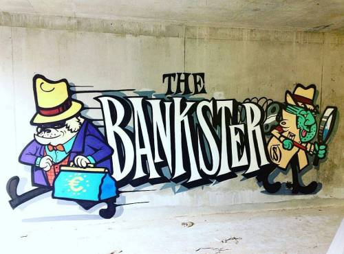 madstylers:  THE BANKSTER@shanehello_______________________#madstylers #stylewriting #graff #graffiti #style #hiphop #spray #sprayart #letters #colorful http://ift.tt/29srBnz